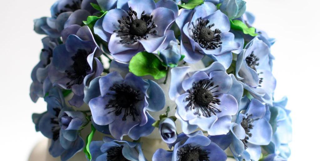 anemonen bruidstaart