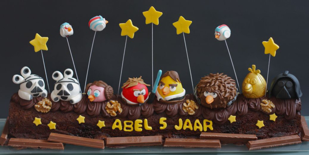 angry birds dadelcake met sticky toffee
